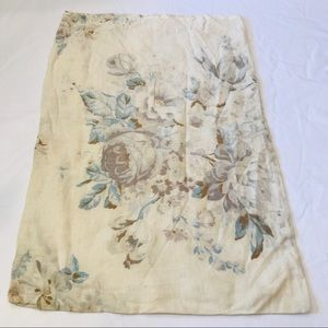 Vintage floral linen bag or pillow cover